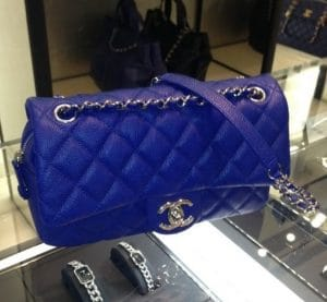 Chanel Cobalt Blue Easy Caviar Flap Small Bag