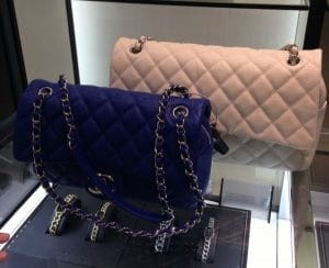 Chanel Cobalt Blue/Beige Easy Caviar Flap Jumbo Bags