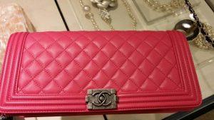 Chanel Fuchsia Boy Flap Clutch Bag