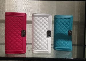 Chanel Fuchsia/White/Turquoise Flap Clutch Bags