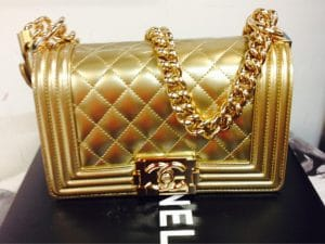 Chanel Gold Small Metallic Boy Bag - Spring Summer 2014