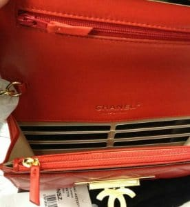 Chanel Golden Class WOC Red Bag Interior Picture
