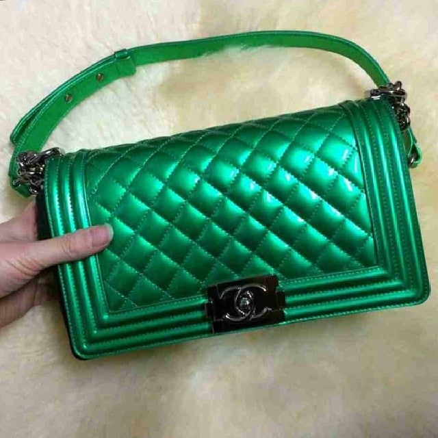 Chanel Metallic Patent Boy Bag Reference Guide And New