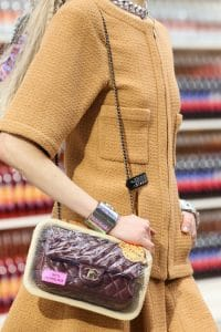 Chanel Maroon Mini Flap bag 100 percent Agneau - Fall 2014
