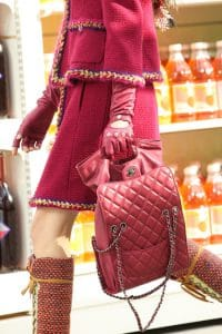 Chanel Pink Flap Bag Drawstring Interior - Fall 2014