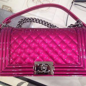 Chanel Pink Medium Metallic Boy Bag - Spring Summer 2014