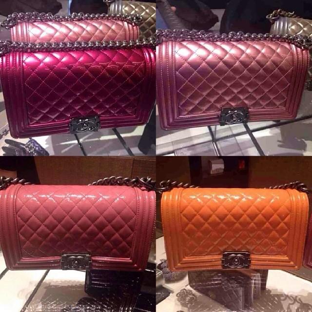 Chanel Bag Pink Chanel Pink Metallic Boy Bag