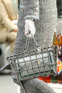 Chanel Silver boy Bag with Braided edges - Fall 2014