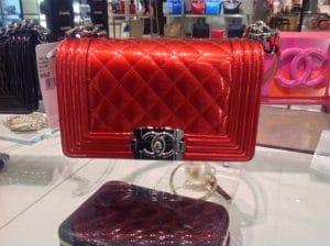 Chanel Vermillon Red Metallic Boy Bag - Spring Summer 2014