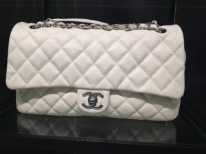 Chanel White Easy Caviar Jumbo Flap Bag