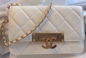 Chanel White Golden Class WOC Bag