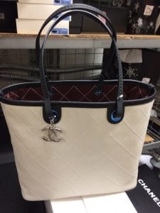Chanel White Shopping Fever Tote Bag