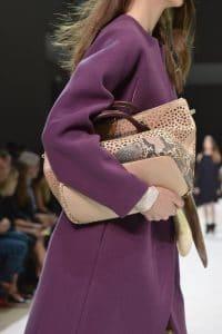 Chloe Bailey Python and Laser Cut Shopping Tote Bag - Fall 2014