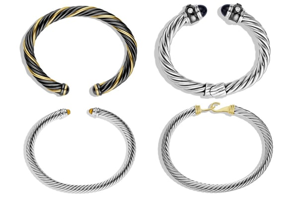 twisted bangle bangles women cuff cable top steel drill stainless silver gold bracelet quality item
