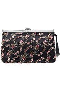 Dior Black Embellished Clutch Bag