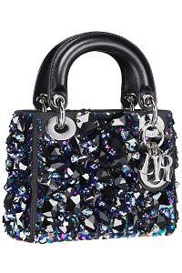Dior Black Embellished Lady Dior Bag