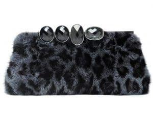 Dior Black Mink Clutch Bag