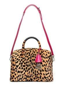 Dior Leopard Print Dome Tote Bag