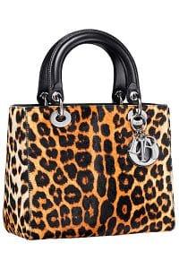 Dior Leopard Print Lady Dior Bag