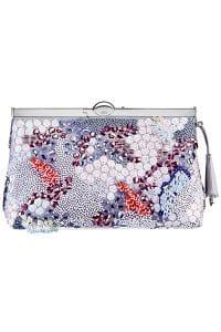 Dior Purple Embellished Clutch Bag