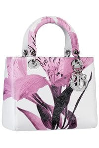 Dior White/Pink Lady Dior Bag