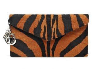Dior Zebra Print Clutch Bag
