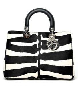 Dior Zebra Print Diorissimo Bag