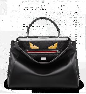 Fendi Black Peekaboo with Bag Bug Interior