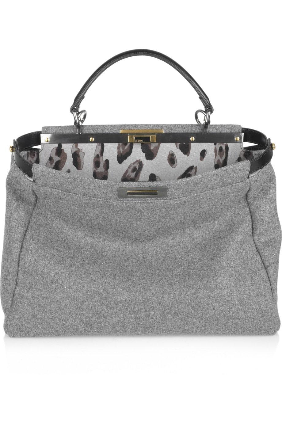 7925ee1b5a A Close Look at Fendi Peekaboo Bag Interior Designs and Materials ...