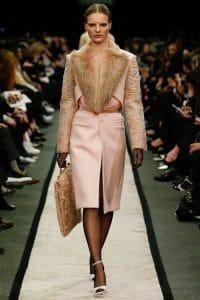 Givenchy Beige Fur Coat - Fall 2014 Runway
