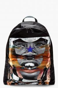 Givenchy Black African Print Backpack Bag