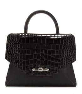 Givenchy Black Crocodile/Tejus Obsedia Tote Bag