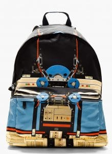 Givenchy Black Robot Print Backpack Bag