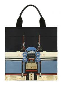 Givenchy Black Robot Print Tote Bag