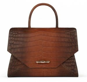 Givenchy Brown Crocodile Obsedia Medium Bag