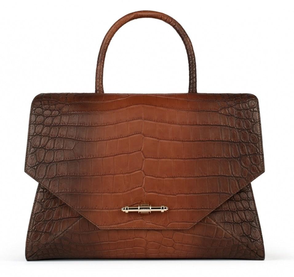 7d5967658a Givenchy Brown Crocodile Obsedia Medium Bag