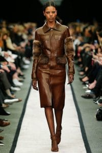 Givenchy Brown Leather Coat - Fall 2014 Runway