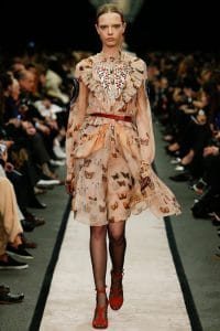 Givenchy Butterfly Print Lace Dress - Fall 2014 Runway