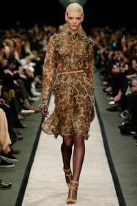 Givenchy Floral Print Lace Dress - Fall 2014 Runway