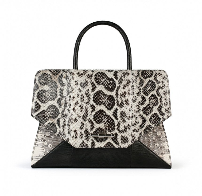 7a93ade0ce Givenchy Natural Anaconda Tejus Black Lizard Obsedia Medium Bag