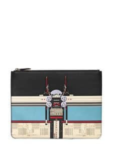 Givenchy Robot Print Zipped Pouch