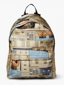 Givenchy Vintage Computer Print Backpack Bag