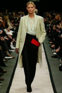 Givenchy White Tailored Coat - Fall 2014 Runway