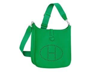 Hermes Bamboo Green Evelyne III Bag