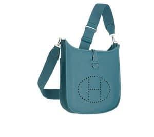 Hermes Bleu Jean Evelyne III Bag