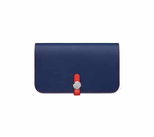 hermes card cases sapphire blue
