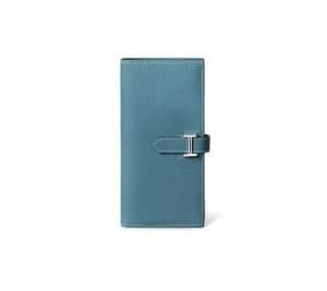 Hermes Blue Jean Epsom Bearn Wallet