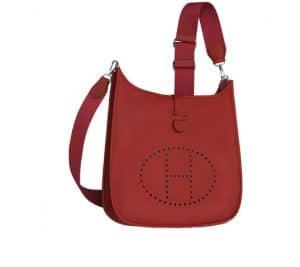 Hermes Bright Red Evelyne III Bag