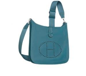 Hermes Denim Blue Evelyne III Bag