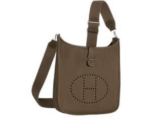 Hermes Etoupe Evelyne III Bag